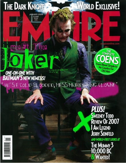 The Joker on the cover of Empire
