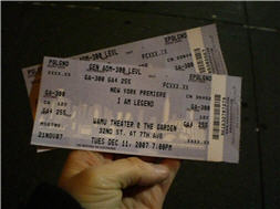 I Am Legend Premiere Tickets