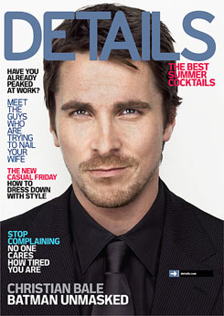 Christian Bale in Details Magazine