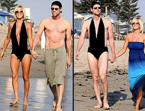 Jim Carrey in Jenny McCarthy\'s bathing suit