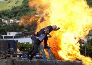 Explosion on The Expendables set