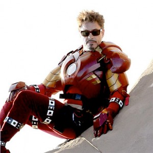 Robert Downey Jr. in Iron Man Suit