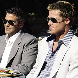 George Clooney and Brad Pitt
