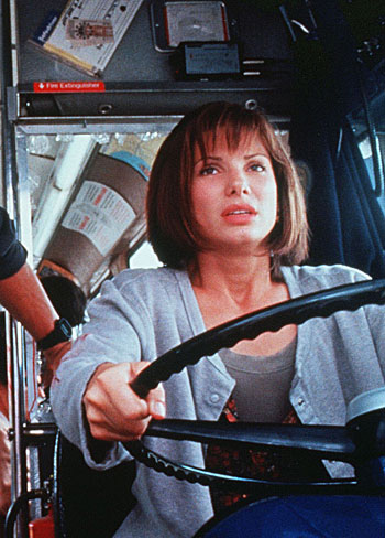 Sandra Bullock driving the bus in Speed