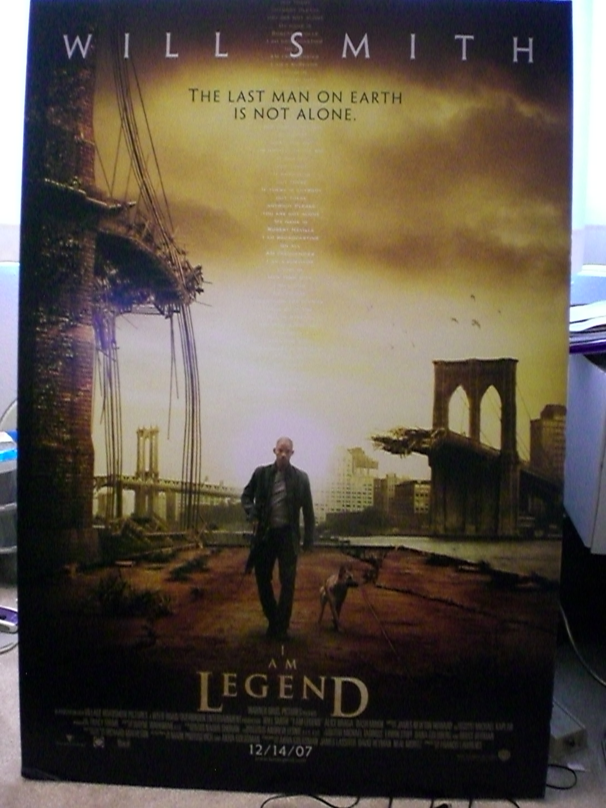I Am Legend Poster Giveaway
